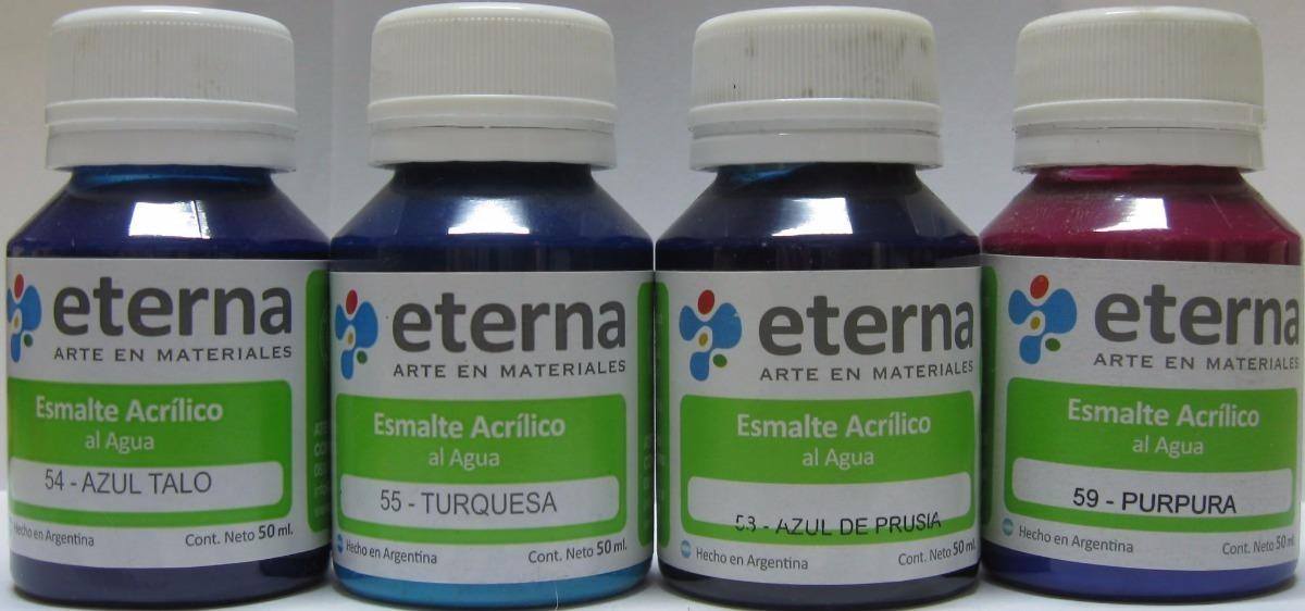 Esmalte Acrilico Al Agua Eterna 50 Ml - $ 48,90 en Mercado Libre
