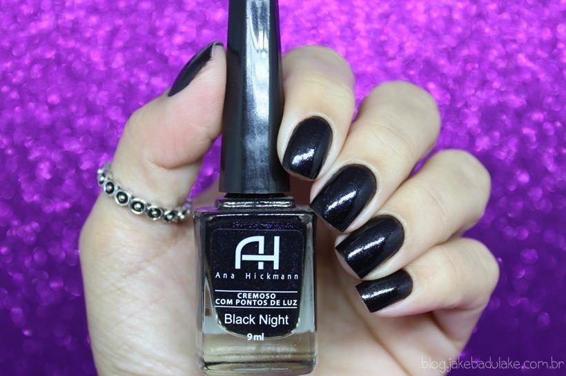 a9cbb6175d633 Esmalte Ana Hickman Black Night - R  14,90 em Mercado Livre