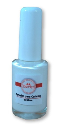 esmalte betina branco carimbos unhas