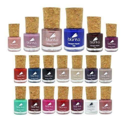 esmalte blanka coleção completa 20 cores - secagem rápida