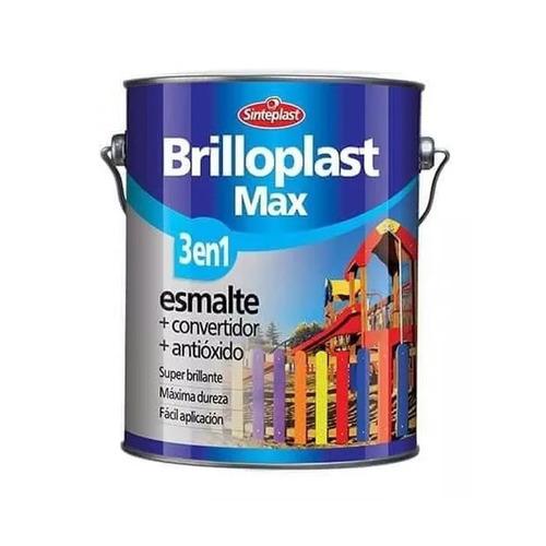 esmalte convertidor brilloplast 3 en 1 4lt negro pintumm