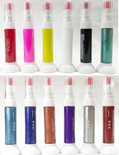 esmalte de uñas estilografo para diseño y decoración 12 pzas
