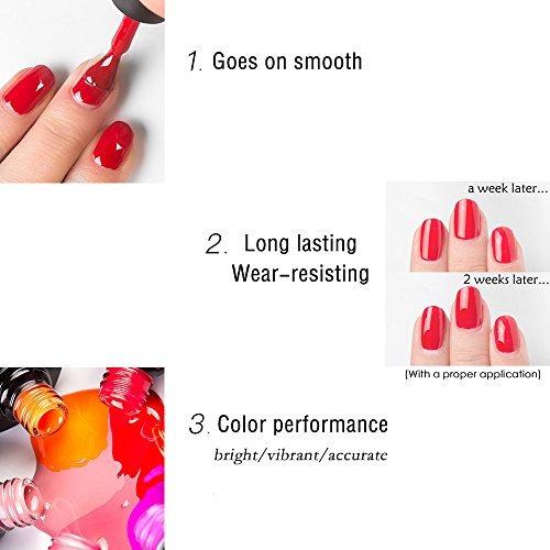 Esmalte De Uñas Gellen 6 Colores Gel Uv Rojas Kit Manicura