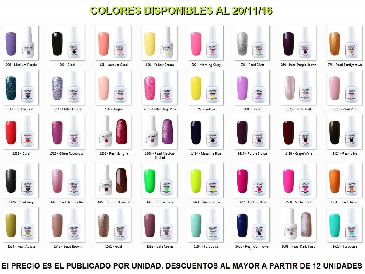 Esmalte De Uñas Semi Permanente Elite99 Color 750 Amarillo - Bs ...