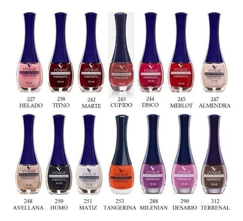 esmalte de uñas vogue fantastic 12 unid. colores a eleccion