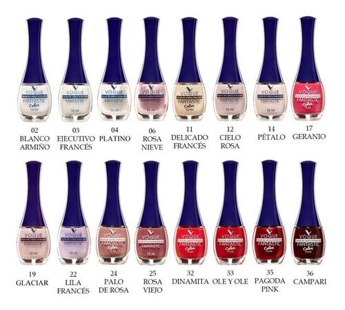 esmalte de uñas vogue fantastic 6 unid. colores a eleccion