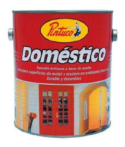 esmalte domestico negro p-95 1/4 galon pintuco