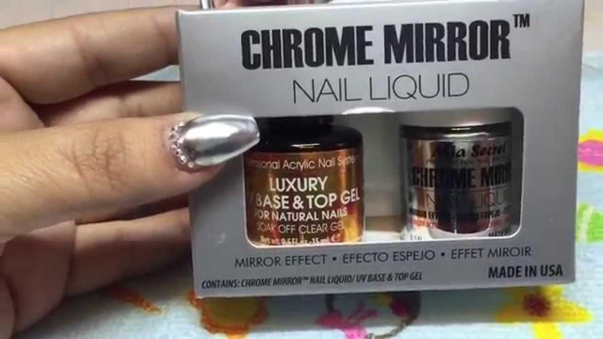 Esmalte Efecto Espejo Marca Mia Secret Chrome Mirror