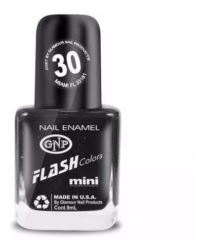 esmalte flash colors de gnp 9ml nro.30 negro