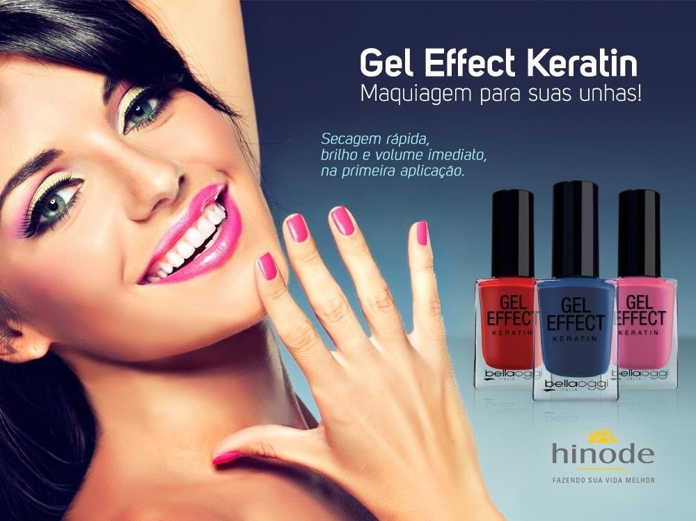 Esmalte Gel Effect Bellaoggi Hinode Maquiagem Para Unhas
