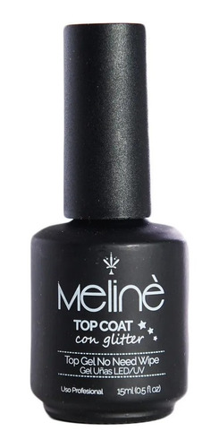 esmalte meline semipermanente top coat glitter gel uv/led