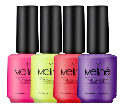 esmalte meline semipermanente x6 unidades color gel uv/led