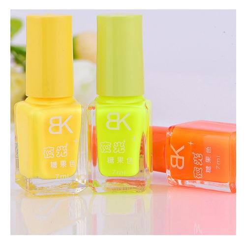 esmalte neon para uñas   flourescente luminoso 20 colores