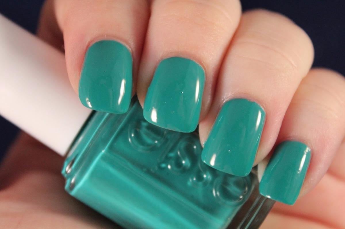 Bonito Uñas Essie Esmalte De Color Verde Esmeralda Ornamento - Ideas ...