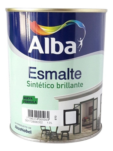 esmalte sintetico alba standard blanco brillante 4l pintumm