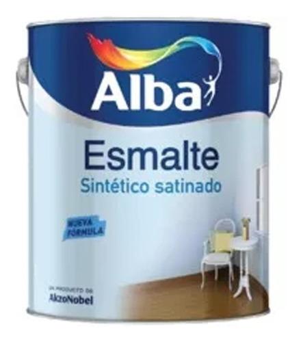 esmalte sintetico alba standard blanco satinado 4l pintumm
