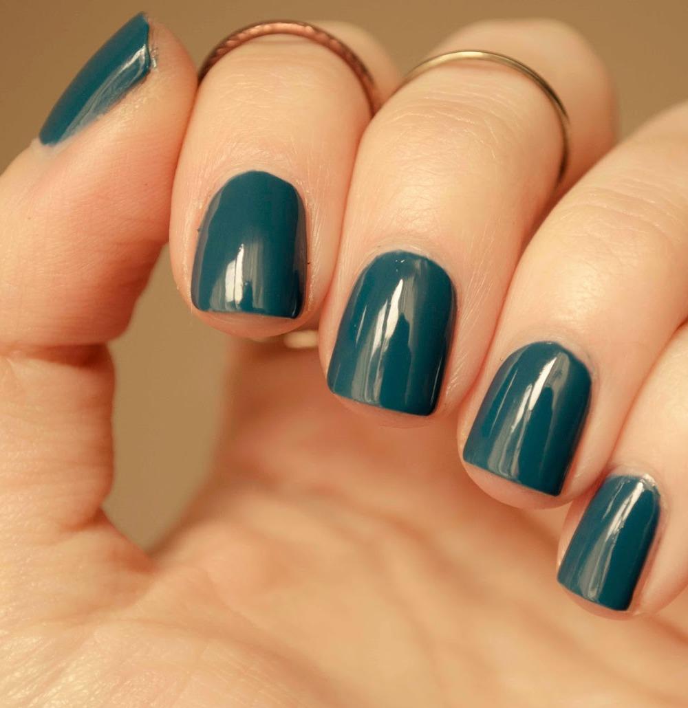 Esmalte Uñas Azul Verdoso A La Moda Color Moderno Barato