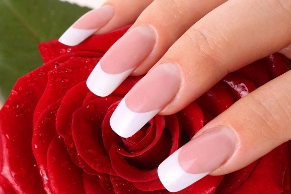 Esmalte Uñas Blanco Invierno Duradero Manicure Francesa