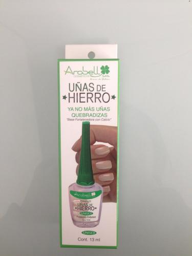 esmalte uñas de hierro base endurecedora 100% colombiana