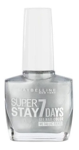 esmalte uñas gel maybelline superstay 7 day silver plateado