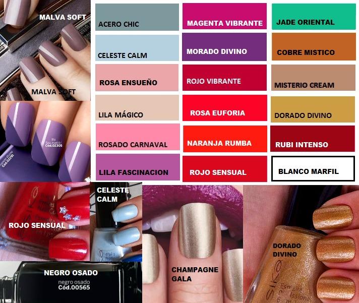 Esmalte Uñas Profesional 6 En 1 Esika Varios Colores 3 X 25 - S/ 8 ...