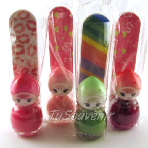 esmalte y lima para souvenirs nenas kit combo