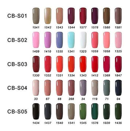 esmaltes gel polish kit uv led 8 colores de 8 ml c/u cb-s10