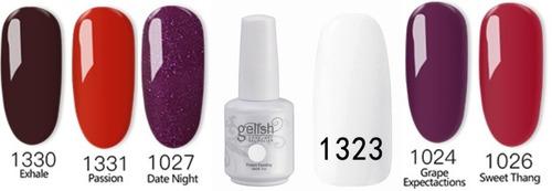 esmaltes uñas en gel - gelish ido 21 dias 3 piezas 15ml