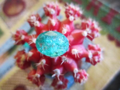 esmeralda certificada oval talismán para anillo dije