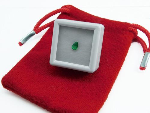 esmeralda colombiana 100% natural precio x pieza + .13ct
