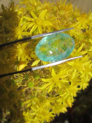 esmeralda con certificado amuleto talismán  para anillo dije