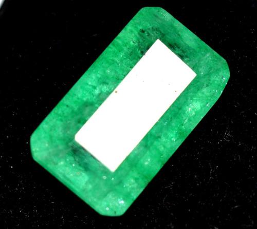 esmeralda - corte esmeralda - certificada - 12.30ct + envío