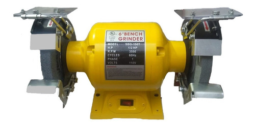esmeril  6   pulgadas - 1/2 hp 110 v