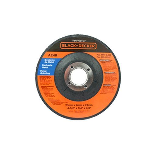 esmeril angular 4 1/2 820w 6 discos regalo black and decker