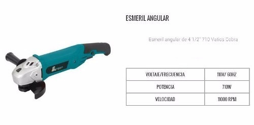 esmeril angular cobra 4 1/2 de 710 watts