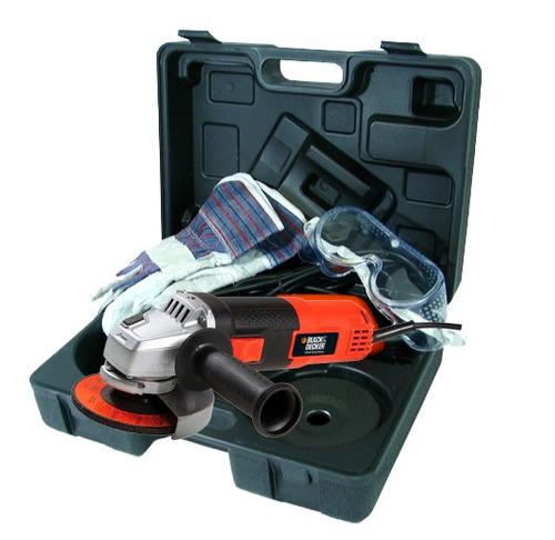 esmeril black and decker 4 y 1/2 + maleta y accesorios nuevo
