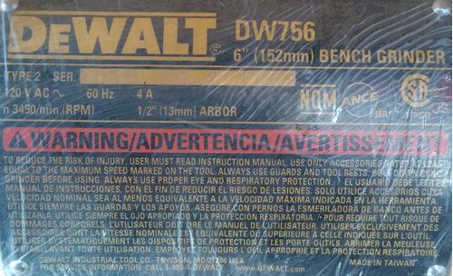 esmeril electrico dewalt dw-756 6 pulg. 5/8 hp/104921