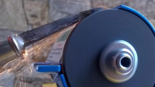 esmeril mini com suporte e pedal 110v e 220v chiquinho