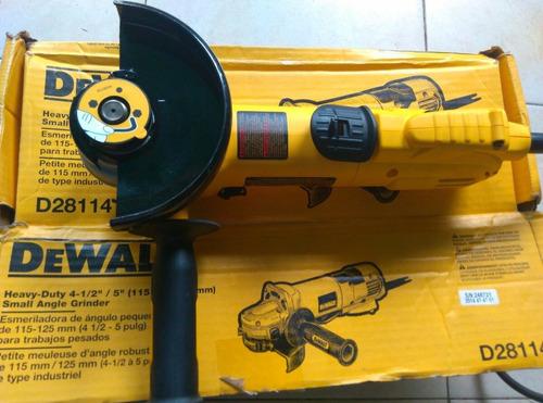 esmeriladora dewalt alto rendimiento 4-1/2 a 5  1700w d28114