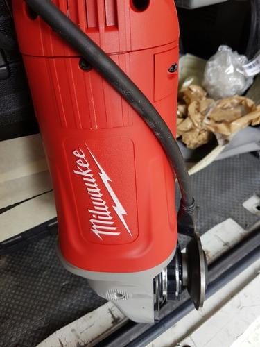 esmeriladora milwaukee angular 7-9 ' 6000 rpm excelente