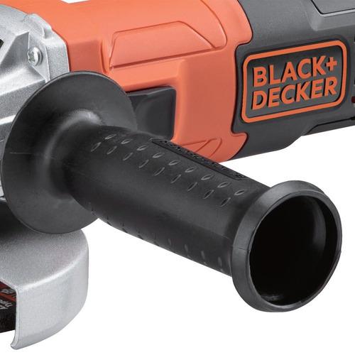 esmerilhadeira black decker 650w + 5 discos + par de luvas
