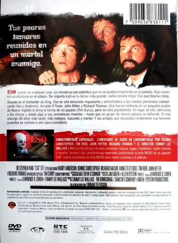 eso it  2017 y 1990 paquete stephen king pelicula dvd