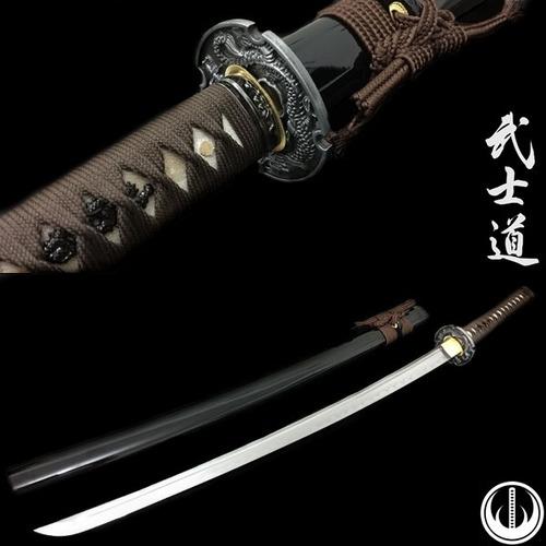 espada aço damasco katana com corte tradicional forjada