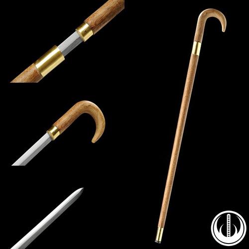 espada bengala afiada dois gumes aço carbono fio resistente