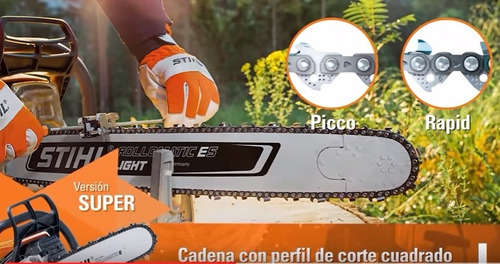 espada + cadena motosierra stihl ms381 382 460 461 63 cm