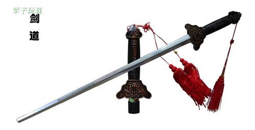 espada china chien jian retractil tai chi adorno funda