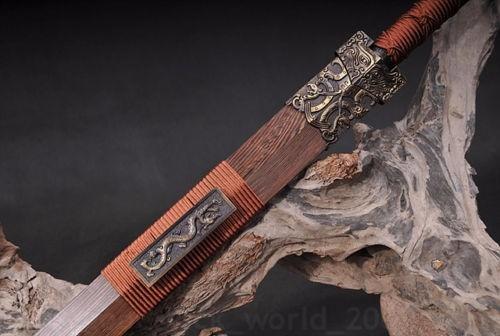 espada chinesa reta estilo katana tai chi detalhes vermelho