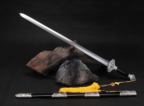 espada chinesa tradicional jian aço carbono dobrado kung fu