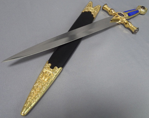espada corta masonica azul maestro mide 54cm dagas katanas