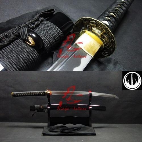 espada curta samurai wakizashi afiada corte aço carbono